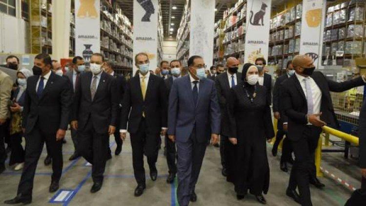 دشن رئيس الوزراء الإفتتاح الرسمى لأمازون مصر